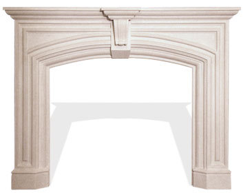 The Classic Series Elizabeth Cast Stone Fireplace Mantel