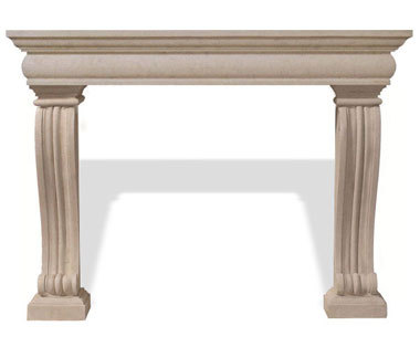 The Classic Series Alexandra Cast Stone Mantel