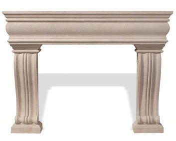 The Classic Series Grand Alexandra Stone Cast Mantel