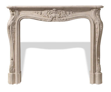 The Classic Series Louis XV Cast Stone Mantel