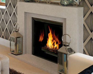 The Contemporary Series CUBE Cast Stone Mantel