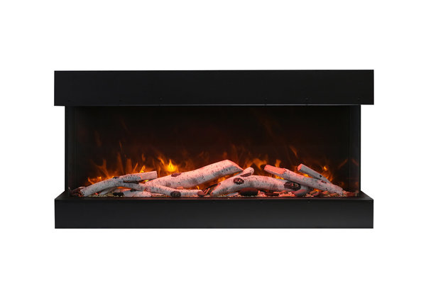 AMANTII 50″ TRU-VIEW Extra Large Deep 3-Sided Electric Fireplace
